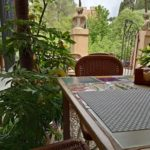 Terrace table overlooking the Alhambra